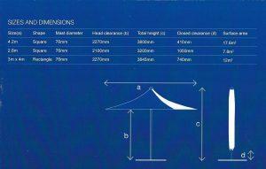 VORTEX 2.8m square parasol