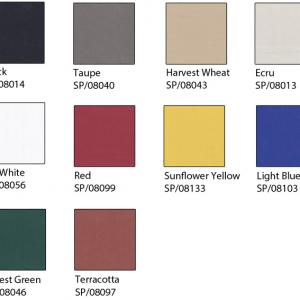 Bambrella replacement parasol canopies Spuncrylic fabric colour chart