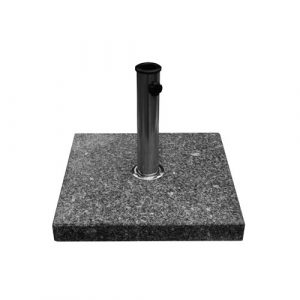 Bambrella 30 kg Granite Base with polished Stainless Steel tube connector